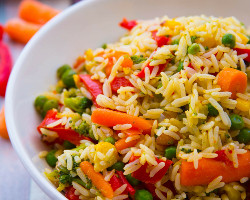 Vegetables With Fried Rice